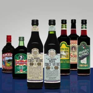 Amari e liquori per infusione d'erbe